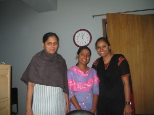 Sandra with Swapna & Shahinur of Adhunika Bangladesh Society