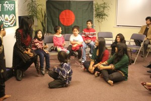 Story telling session with Navine, Nadine & Faisal