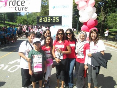 Team Adhunika Race for the Cure, September 9, 2014, Central Park, NYC