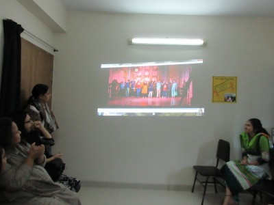 Screening of 'Friday Night Skype Session' by Team Adhunika Jr. Photo: Shahnaz S. Yousuf