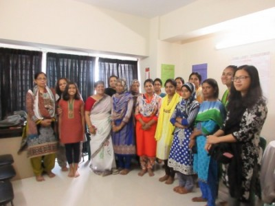 Adhunika Jr. Team visits Adhunika Women's Centre, at Azimpur, Dhaka Bangladesh. Photo: Biddut